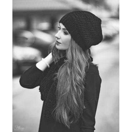 Zimná čiapka + šál